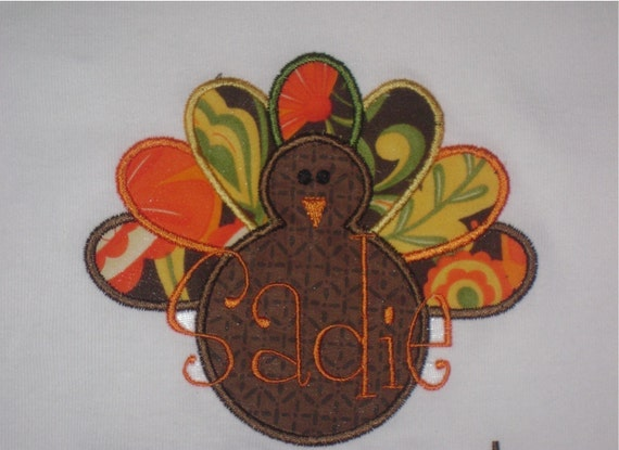 Personalized Thanksgiving Turkey  Tee  DESIGN YOUR OWN - Custom Made Sizes 3 mos-Youth 12