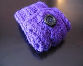 Bright Purple Knit Pouch
