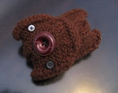 Cable Knit Button Monster Pouch MP3 Cell And Such