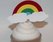 Rainbow Cupcake Toppers (Set of 24)