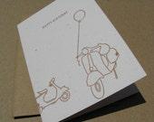 Drafted -Vespa- Birthday Card