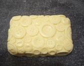 Button Handmade Goats Milk Soap   5 oz