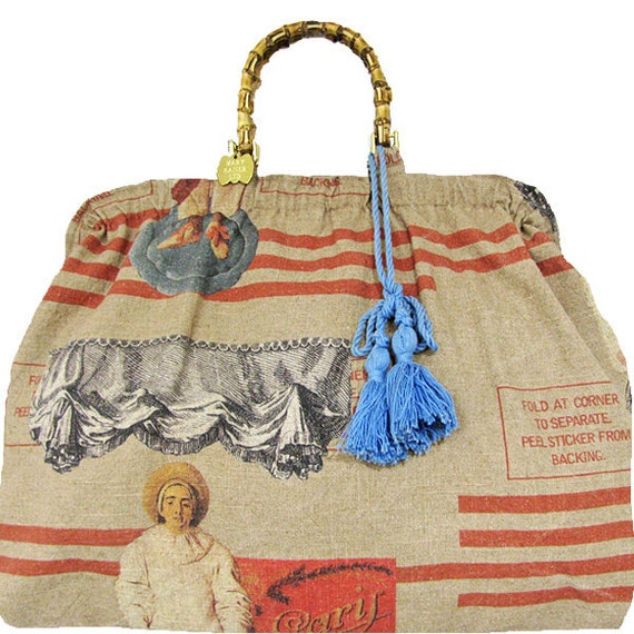 pierrot linen tote,SALE was 178. reduced to 125.