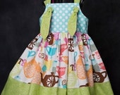 Michael Miller High Tea Knot Dress without apron Size 12 months-5 yrs