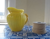 Vintage Yellow Glass Pitcher