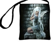 Cross Body Essentials Handbag Forgotten Gothic Fallen Angel Fantasy Art Purse, Tiffany Toland-Scott Artwork