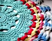 crochet doily card