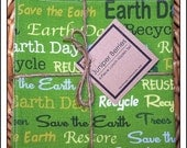 Earth Day Reversible Cloth Lunch Napkin Set