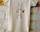 Holiday SALE 2010 Bunny Organic Cotton Onesie