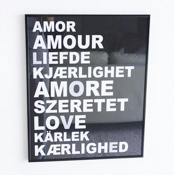 LOVE Languages Typography