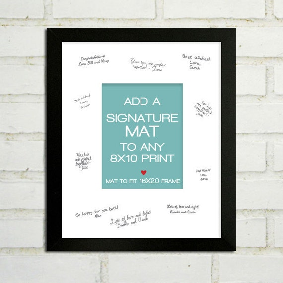 Add A White Signature Autograph Mat To Your 8x10 Print
