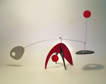 Modern Art Table Top Kinetic Art Sculpture Stabile by Frith Animo Lg Calder Influence Home Decor