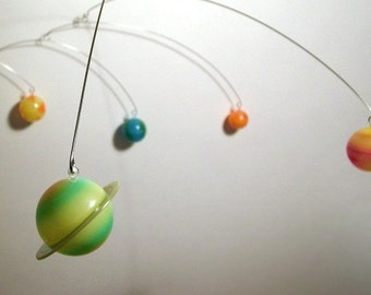 9 Planets Mobile hanging art sculpture by Julie Frith Calder style influence design