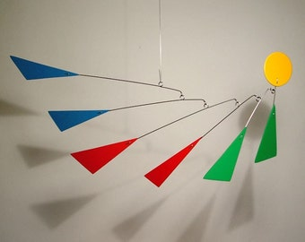 Art Mobile Modern Hanging Sculpture by Julie Frith M Calder Styled