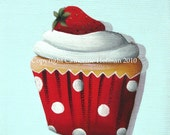 Cupcake Art Print Strawberry Shortcake