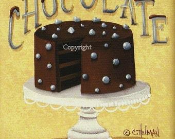 Chocolate Cake Print