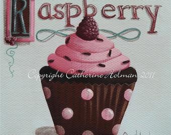 Cupcake Print Raspberry Chocolate