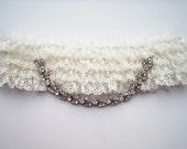 Romance layered lace rhinestone garter