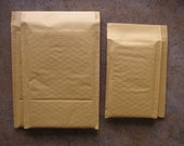 40 Assorted  Self Sealer Bubble Mailers   20  4 x 8 and   20  6 x 9 Kraft