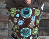 ORGANiC COTTON BAby Wrap-Sling Carrier-Flowers Burst-DvD Included-Newborn to Toddler