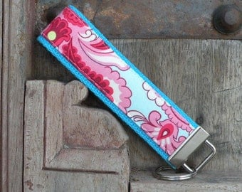 READY TO SHIP-Beautiful Key Fob/Keychain/Wristlet-Wallpaper