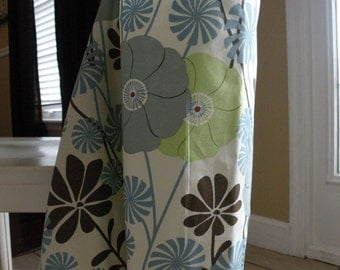 Beautiful Nursing Cover-Choc/Blue Daisy-Free Shipping When Purchased With A Wrap