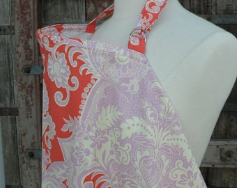 Beautiful Nursing Cover- Tangerine -FREE SHIPPING when purchased with a wrap