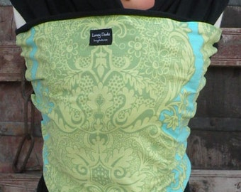 ORGANIC Cotton Baby Wrap-Green/Turq Swirl-DVD Included-One Size Fits All-DvD Included