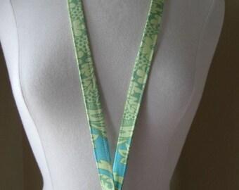 Beautiful Lanyard-ID Badge Holder-Turq/Green Swirl