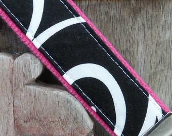 Wrist Key Chain--Wristlet--Key Chain--Ironwork On Hot Pink