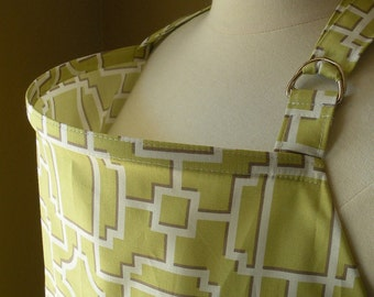 Ready To Ship-Beautiful Nursing Cover-Mod Lattice-Green-FREE SHIPPING when purchased with a wrap