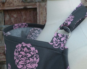 Nursing Cover-Gray with Pink Blooms-Free Shipping When Purchased With A Wrap