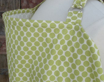 Nursing Cover-Polka Dots in Lime-FREE SHIPPING when purchased with a wrap