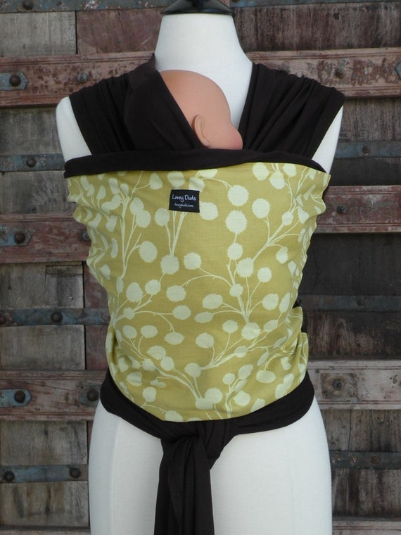 ORGANIC BAMBOO-Super Lightweight Baby Wrap-Branches On Brown-DvD Included-Our Carriers Are One Size Fits All