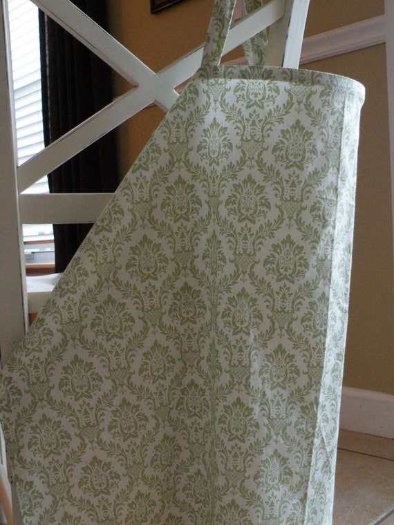 LIGHTWEIGHT Beautiful Nursing Cover-Green Damask-FREE SHIPPING when purchased with a wrap