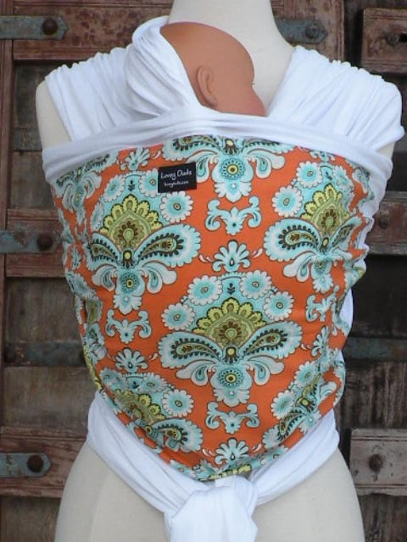 Organic Cotton Baby Wrap Carrier-Wallpaper-Newborn to Toddler Carrie-One Size Fits All-DVD INCLUDED
