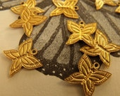 Butterfly Tiny Brass Charms 12x9mm 12