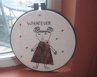 Speaking Her Mind Embroidery