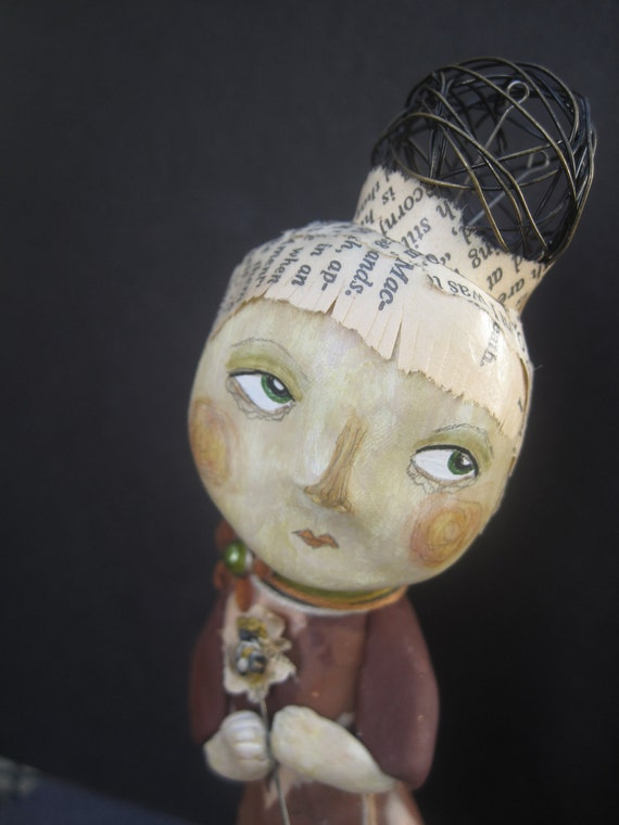 FALL SALE Shalako.  Original Clay Art Doll