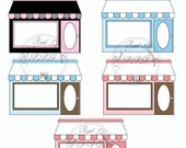 Buy 1 Get 1 Free Boutique Fancy Chic Trendy Storefronts Clip Art Graphics Instant Download