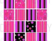 Buy 1 Get 1 Free Pink Pop Retro Digital Collage Scrabbles