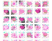 Buy 1 Get 1 Free Pink Cupcakes Hearts Flowers Swirls Polkadot Party No3 Digital Collage 1 Inch Squares Inchies