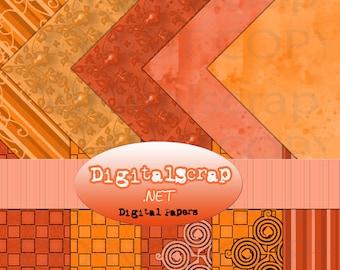 Buy 1 Get 1 Free Hipster Desert Rust Digital Scrapbooking 10 Paper Pack 12x12 300 dpi Cu Printable