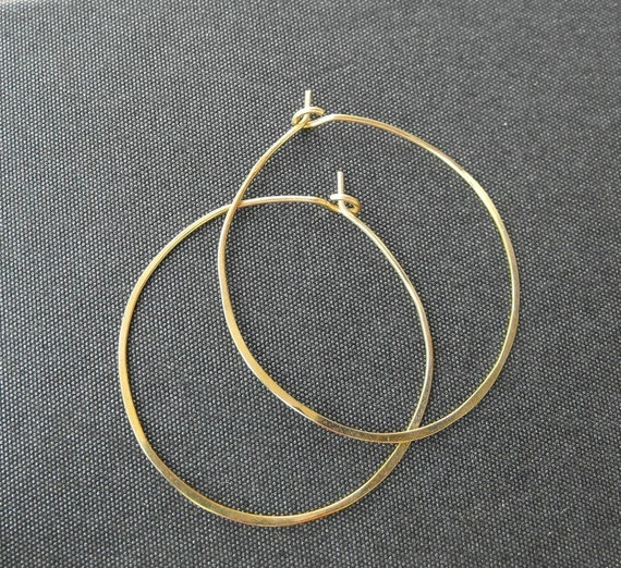 Classic gold hammered hoop earrings