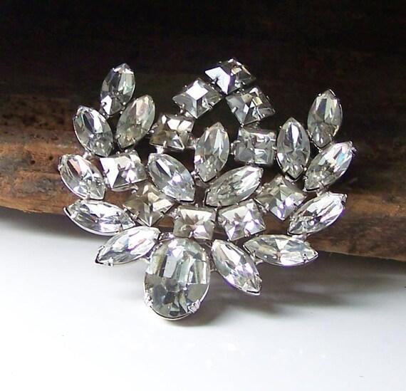 Etsy Jewelry, Vintage WeissCo N.Y. Rhinestone Brooch, Vintage Glam, Glam Brooch, Bridal Glam, Jewelry, Vintage, Gift