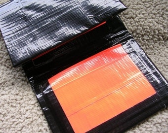 Fall Orange and Black Duct Tape Tri-fold Wallet