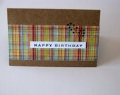 Plaid Happy Birthday Card