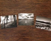 "THREE RAFFLE TICKETS for a Set of 3 8x10"" Black and White Landscape Prints"
