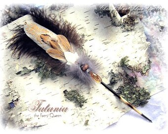 Tatania FAERY QUEEN Delicate Feather Porcupine Quill Pen
