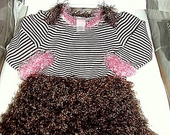 Pink/Brown Cha Cha Onesie - Special Order